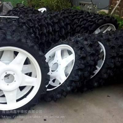 玉米打药机车轮胎_农用机械超窄轮胎_人字花纹植保机车轮胎报价