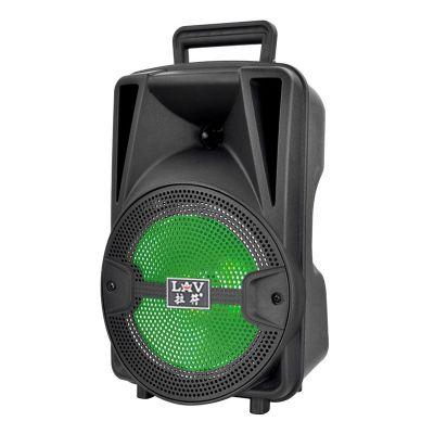 拉符108A 8寸大功率户外广场舞音响充电手提音箱