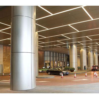 建筑工程包柱铝单板-圆形包柱铝单板-室外氟碳包柱铝单板
