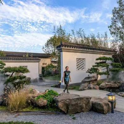 鞍山高端园宿庭院花园设计品牌 私家花园设计 风格独特
