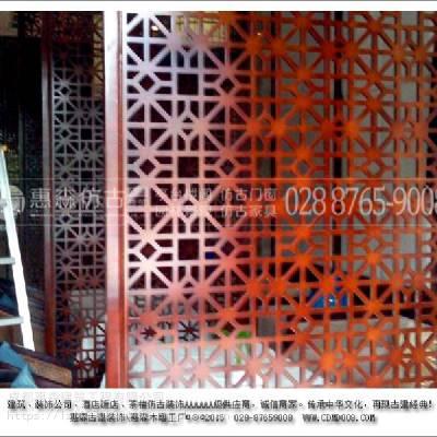 惠森老式折叠装修雕花屏风_木质雕花屏风制造商