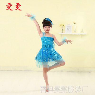 热销供应 六一儿童表演礼服 新款学校舞台女童表演礼服