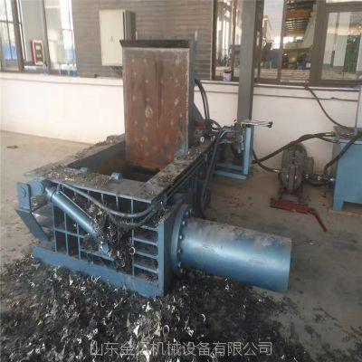 淮南125-160金属边角料压块机料箱尺寸1.2*1米的压块机液压卧式压包机图片