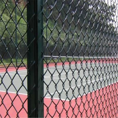 操场浸塑防护网 篮球场安全围栏网 运动场围栏网厂家