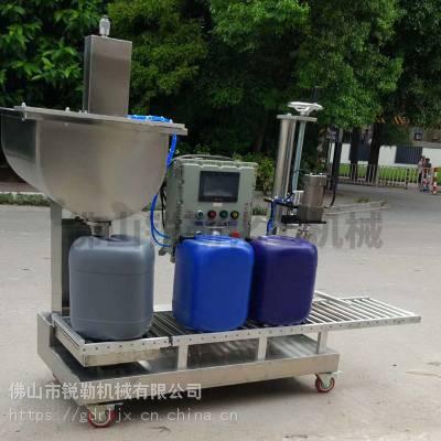 25升塑料方桶自动旋盖灌装机 腐蚀性化工液体灌装设备