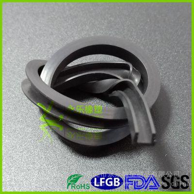 永乐供应U型粘接包边硅胶密封圈、保鲜盒硅胶密封圈、卫生环保食品级 FDA认证