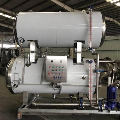 三锅并联高压灭菌锅 大型食品厂专用设备