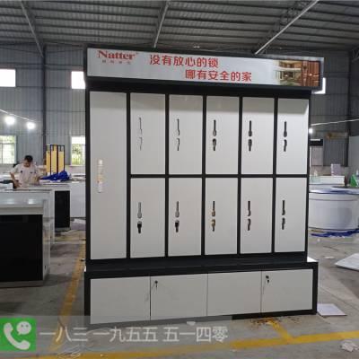 山东青岛云识科技安防门锁展示柜厂家直销瑞仕康指纹锁样品架