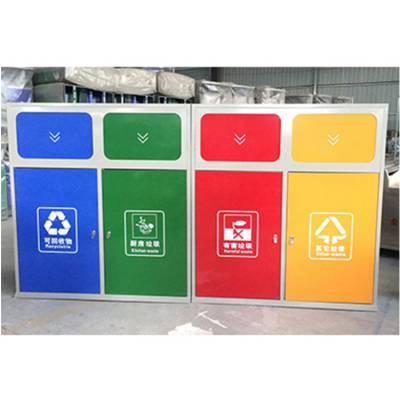 四分类垃圾桶、郑州户外垃圾桶厂家、河南分类垃圾箱定制生产批发