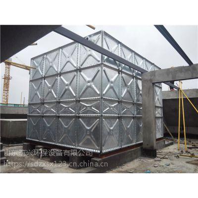 方形镀锌水箱 山东镀锌钢板水箱 镀锌水箱价格
