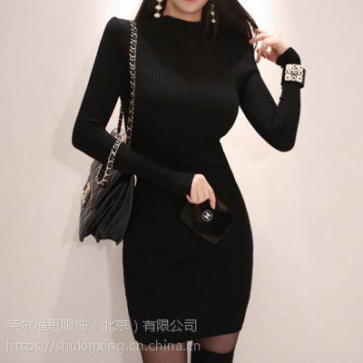 拉夏贝尔品牌尾货剪标女装批发折扣 品牌女装尾货羽绒服黑色多种款式