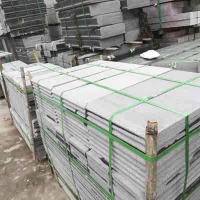石材厂家生产各种楼梯踏步板 台阶石 芝麻灰地铺石 园林地铺石 工程板 价格图片