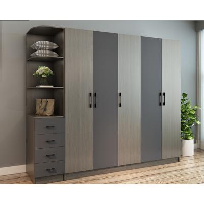 衣柜 简约现代经济型组装卧室衣柜 整体组合四五5门大衣橱柜子