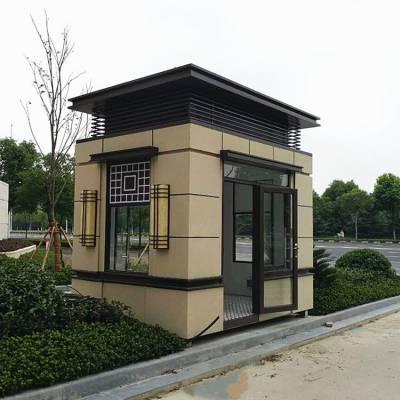 上海<b>岗亭</b>厂家定制小区门卫室<b>岗亭</b> 厂家直销豪华欧式真石漆保安亭