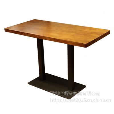 倍斯特古典中式复古松木餐桌创意主题湘菜中餐音乐烧烤厂家定制
