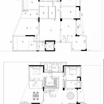 龙湖揽镜户型分析,九里晴川二期揽镜146和170平面布置方案装修效果图