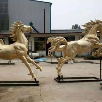 玻璃钢铜马雕塑-滁州铜马-阿波罗战车铜马