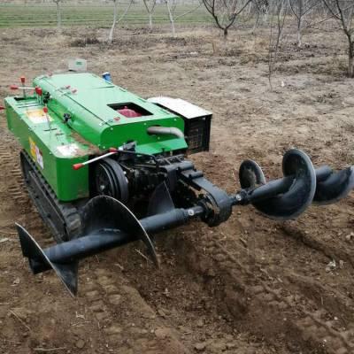 履带式果园茶园开沟机 全自动旋耕松土机 自走式除草回填机