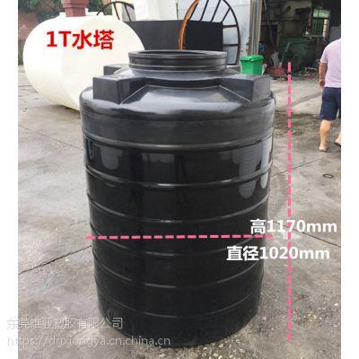 雄亚塑料厂家 生产黑色塑料水塔 黑色避光储罐药水桶 20立方