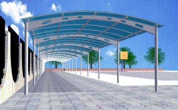 膜结构车棚价格-创锦帆装饰膜结构-杭州膜结构