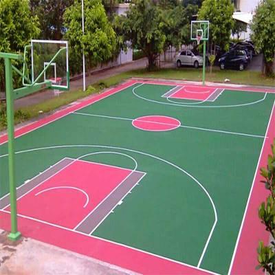 深圳环保硅pu球场材料报价 3mm硅pu弹性篮球场项目建设