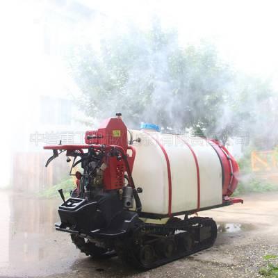 遥控自行走风送式打药机生产厂家 果园打药机 履带自走式高效果林弥雾机多少钱一台