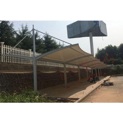 驻马店七色膜结构顶棚 鹤壁张拉膜雨棚 膜结构遮阳篷