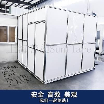 上海转动机械防护罩生产厂家善昶Sunflare全封闭亚克力防护罩