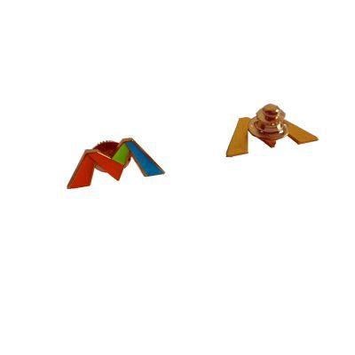 厂家专业定制金属珐琅徽章麦当劳胸针制作烤漆胸章定做来图来样订做