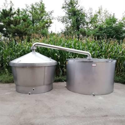 沧州大型酒厂酿酒设备 自动卸料造酒设备价格 不锈钢酒罐批量定做