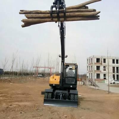 山重轮式85抓木机、挖掘机厂家大促销、