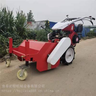 手扶割草机使用 苹果园碎草还田机 自动打草粉碎机