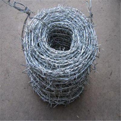 带刺铁丝网围栏 围墙防护网 镀锌包塑刺绳网