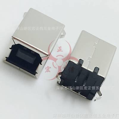 D型/D字口 立式 BF-180打印机插口/接口B母180度 方口USB座 母座