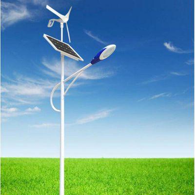 6-12米30-100瓦风光互补太阳能路灯3叶6叶风机