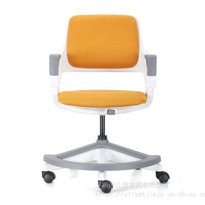 供应深圳众晟家具ZS-Rookie可360度旋转布艺学生儿童椅