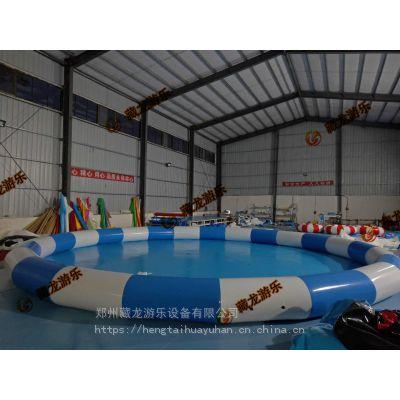 大型充气水池气垫多少钱一个 240平米充气水池什么报价 充气水池气模泳池厂家