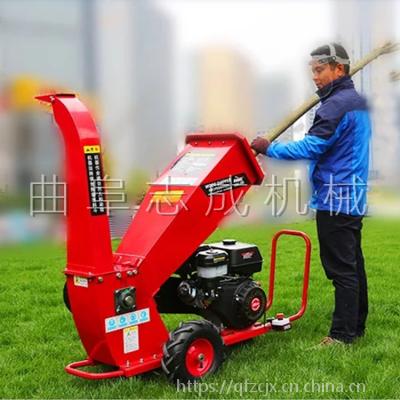 移动方便树枝粉碎机 电启动柴油动力树枝粉碎机 多功能果树修剪破碎机