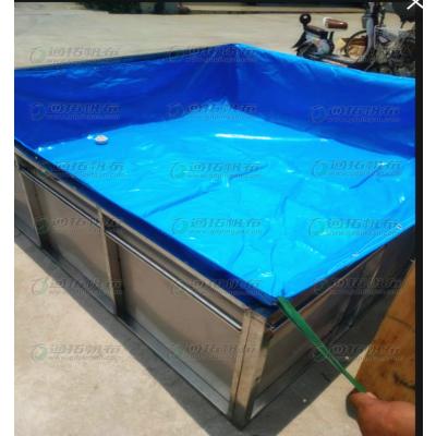 矿山蓄水池帆布蓄水池鱼池_折叠篷布水池防水布盖货篷布鱼池订做