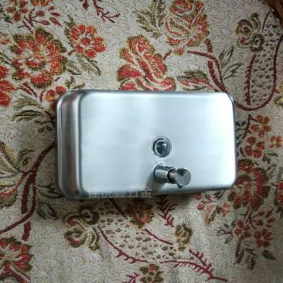 大容量1000毫升洗手器价格 304不锈钢明装肥皂液盒安装高度 洗手液盒佳悦鑫JY-125型厂家直销