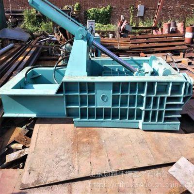浙江小型金属压块机厂家125铝屑铁屑卧式压块机定做钢筋大型压包机