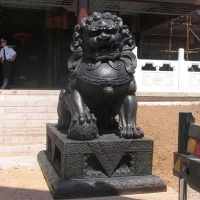 镇宅门前铜狮子雕塑-精工批发(在线咨询)-雕塑
