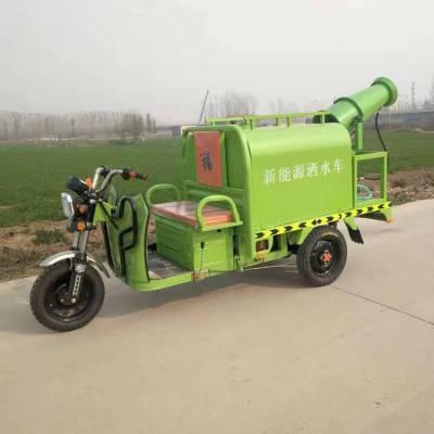 电动三轮洒水车 园林绿化洒水车 多功能草坪绿化雾炮车
