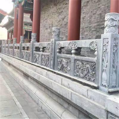 石栏板桥梁石栏杆安装石材护栏制作厂家