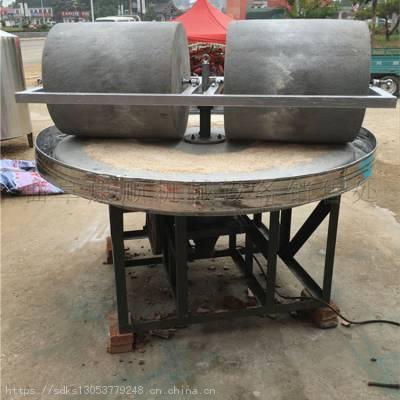 电动面粉石磨机-电动面粉石磨机