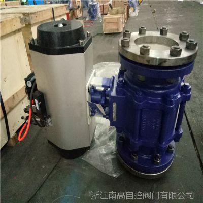 气动耐磨陶瓷球阀 Q641TC-10C 手动 法兰耐磨陶瓷球阀