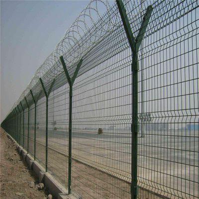 浸塑监狱护栏网定制 河北优盾机场围界隔离网 监狱围墙围网厂家