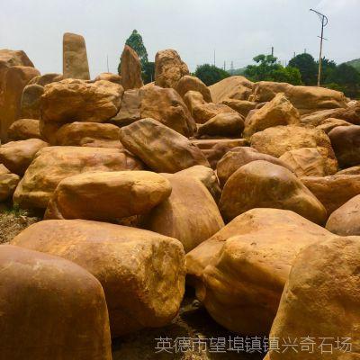 天然吨位石 江西黄蜡石 黄蜡石批发中心 园林黄石
