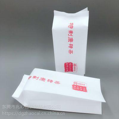 棉纸茶叶包装袋定制 防潮自封纸塑复合袋 砖茶白棉纸风琴袋