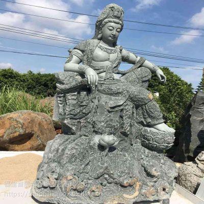 福建厂家定制石雕佛像 观音坐像花岗岩石雕观音像供奉菩萨雕塑